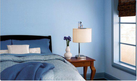 blue room color scheme - monochromatic