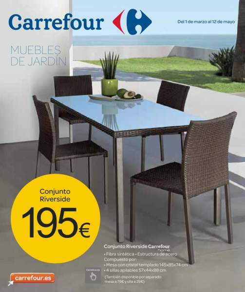 Cat logo carrefour muebles de jard n for Milanuncios muebles de jardin