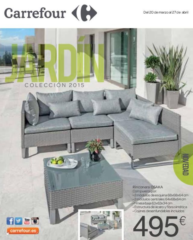 Cat logo carrefour muebles de jard n for Catalogo muebles jardin