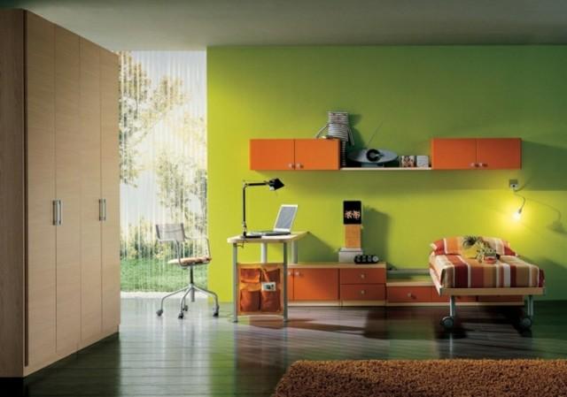 colores-dormitorios-juveniles-pared-verde