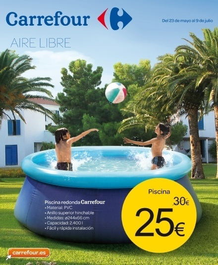 Cat logo carrefour muebles de jard n for Piscinas hinchables para jardin