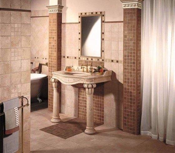 Baños Rusticos Madera:Azulejos para los baños rústicos – EspacioHogarcom
