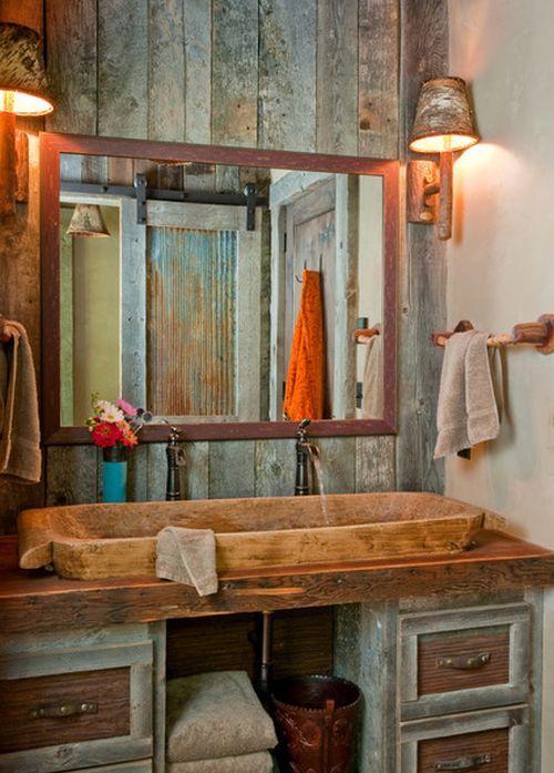Baño Rustico De Obra:baño-rustico-obra-pared-mueble – EspacioHogarcom