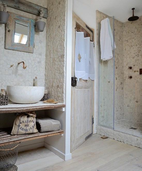 Ba o rustico obra paredes piedras for Banos rusticos de obra