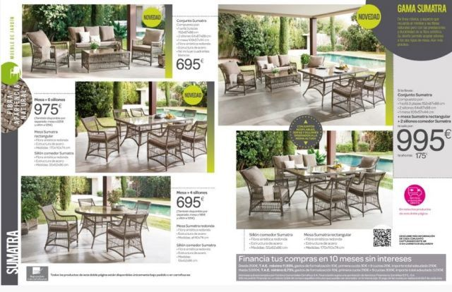Cat logo de muebles de terraza carrefour for Cofac catalogo jardin 2015