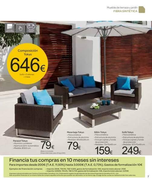 Muebles modernos terraza for Muebles exterior alcampo