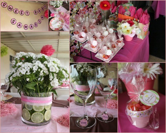 Baby shower centerpieces for Centro de mesa baby shower