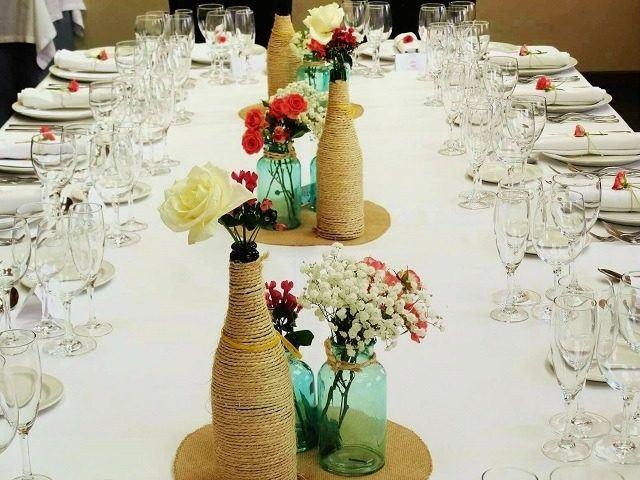 Decoracion Para Matrimonio Rustico : Centros de mesa para bodas los mejores arreglos
