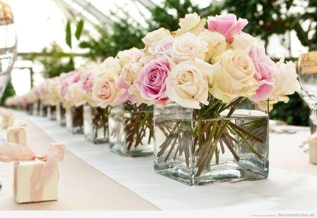 Centros de mesa para bodas 2018 Los mejores arreglos de mesa para boda