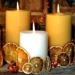 centro-mesa-elegante-naranja-blanco