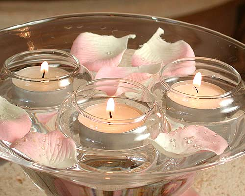 Center-table-candle-floating