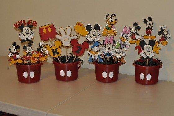 De Mesa De Mickey Mouse Hacer Un Centro De Mesa De Mickey Mouse
