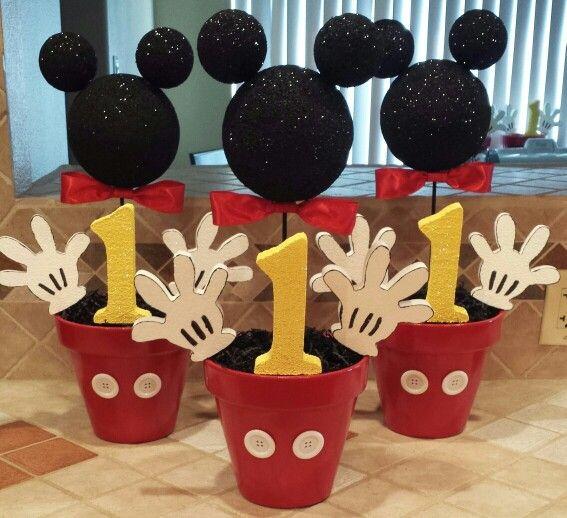 Mickey Mouse Decoracion Mesa ~   la cabeza de Mickey Mouse (con bolas de porexpan pintadas de negro