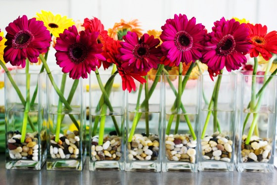 Table-to-wedding centerpieces