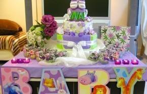 Centros de mesa para un baby shower