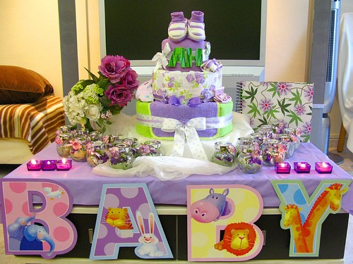 Centros de mesa para un baby shower for Centro de mesa baby shower
