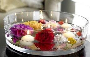 Cómo hacer un centro de mesa con flores y velas