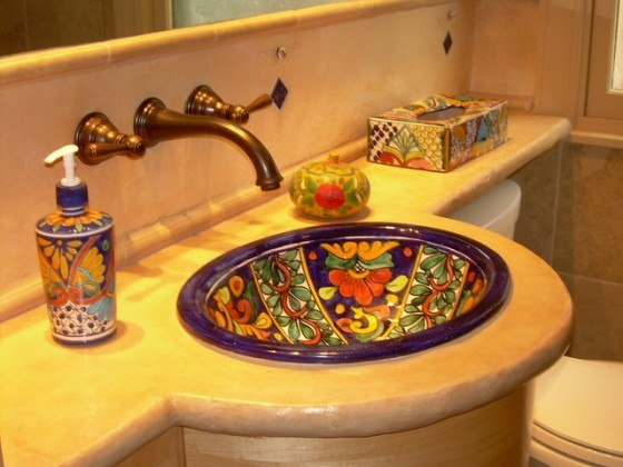 Bachas Para Baño Rusticas:Mexican Style Bathroom Ideas