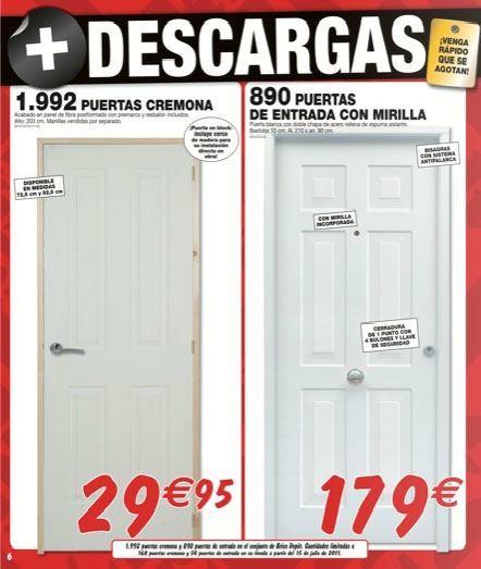 Puerta galvanizada bricodepot for Brico depot puertas interior