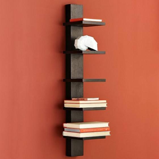 Repisas Para Libros Modernas.Repisas De Madera Y Modernas Para La Pared Espaciohogar Com