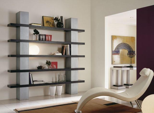 Estanteria moderna gris negro - Estanterias modernas de pared ...
