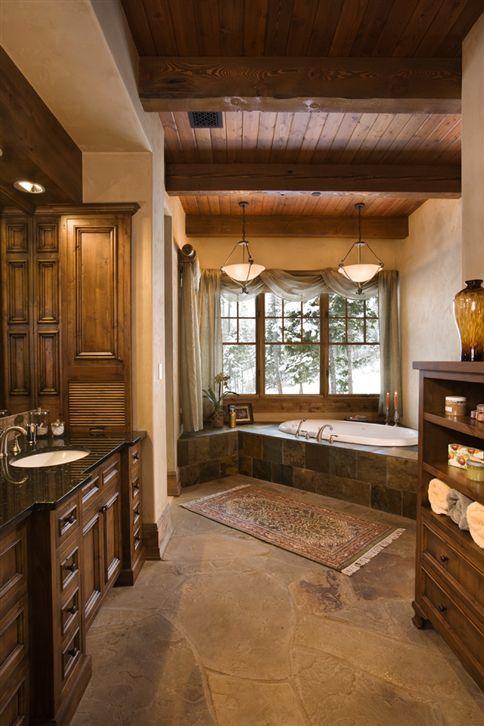 Imagenes Baño Rustico:foto-baño-rustico-madera-antigua