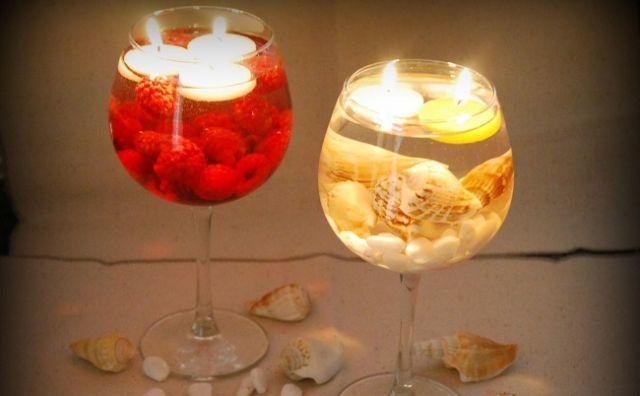 los-mejores-centros-de-mesa-velas-y-copas-de-vino