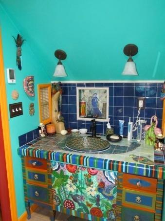 Mueble ba o mexicano for Banos rusticos mexicanos