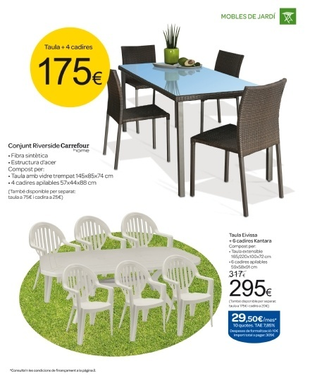 Cat logo de muebles de terraza carrefour - Mesas de jardin carrefour ...