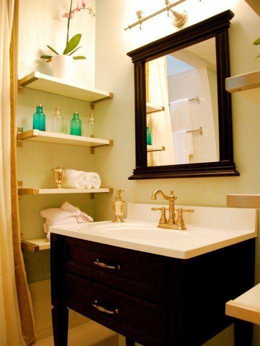 Bathroom Decor Ideas For Small Spaces : Las mejores fotos e ideas de repisas madera