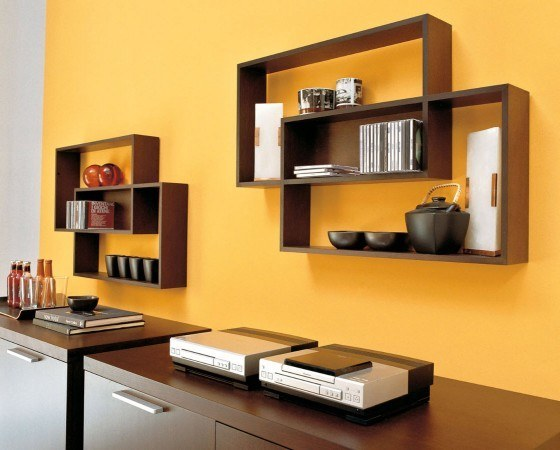 Contemporary Wooden Wall Shelf 560 x 450
