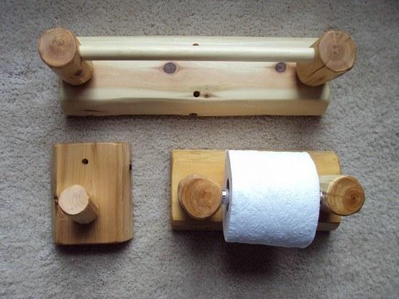 Fotos de la decoraci n para ba os r sticos for Colgadores para toallas
