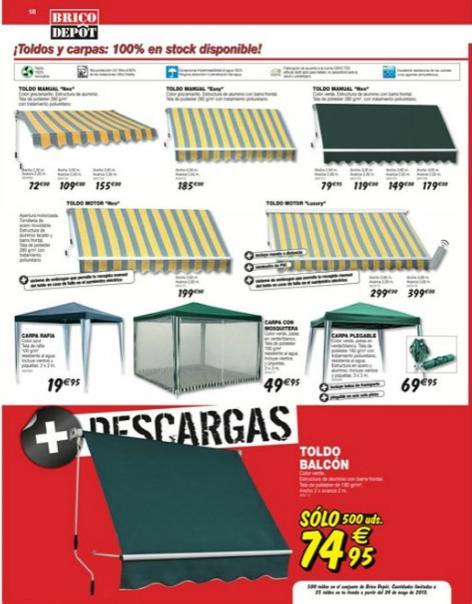 propuestas para la terraza de brico depot