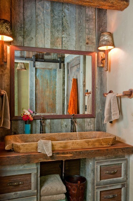 Rustic Bathroom 426 x 640