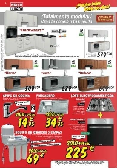 Brico depot catalogo septiembre 2013 cocinas y muebles de for Muebles de cocina brico depot