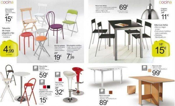 Catalogo de muebles carrefour octubre 2013 mesas sillas for Mesas y sillas de comedor en carrefour