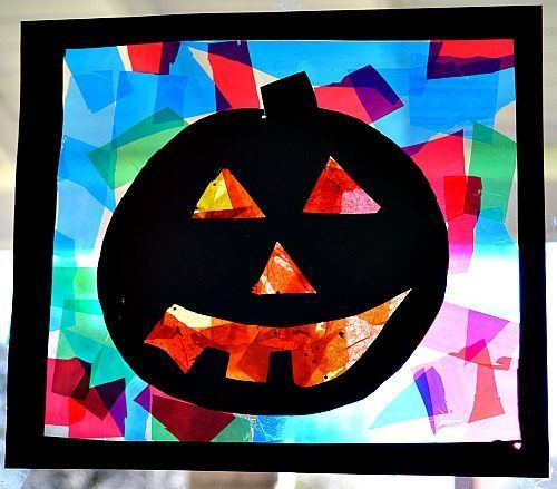 Halloween Decoration 2015-papel-celofan