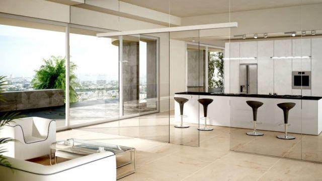C mo dividir ambientes de forma moderna y sofisticada for Dividir cocina comedor