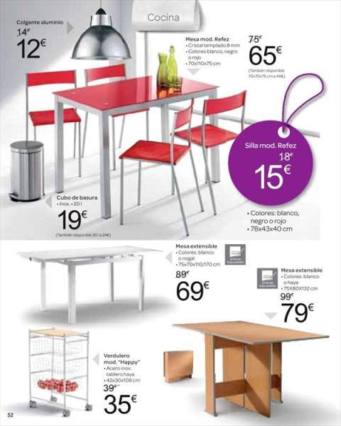 Cat logo de muebles carrefour 2018 for Ofertas en mesas y sillas