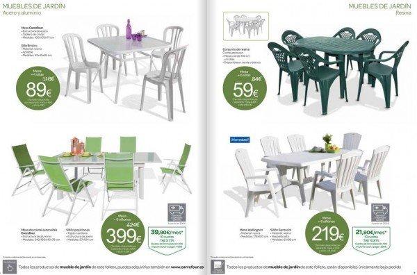 Cat logo de muebles carrefour 2016 for Mesa y sillas plastico jardin