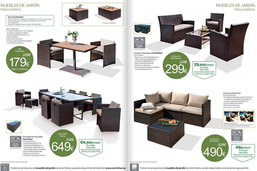Catalogo de muebles carrefour folleto agosto 2014 for Ofertas muebles de jardin carrefour