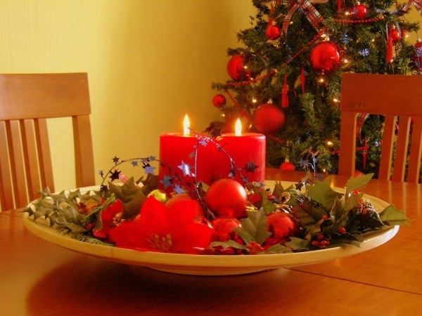 Velas De Navidad Decoracion Ideas Fotos Espaciohogarcom - Centros-de-mesa-navideos-con-velas