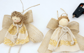 Bolas con ángeles para el árbol de Navidad 2014