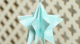 Estrellas tridimensionales para el árbol de Navidad 2019