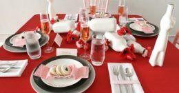 Cómo poner la mesa en San Valentín 2019