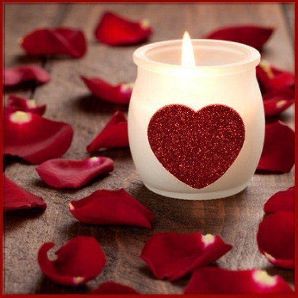 Velas románticas para San Valentín 2018