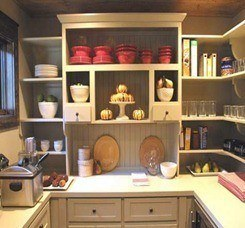 Cocina pequena almacenamiento estanteria for Estanterias cocinas pequenas