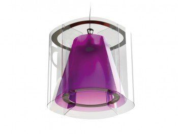 Slamp harris unica lampara colgante 1xe27 75w violeta for Conforama lamparas colgantes