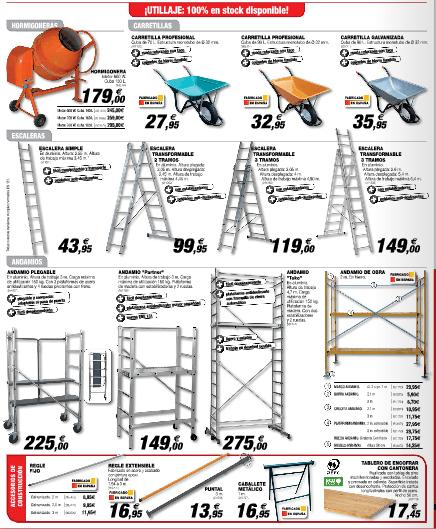 escalera andamio bricodepot transportes de paneles de madera