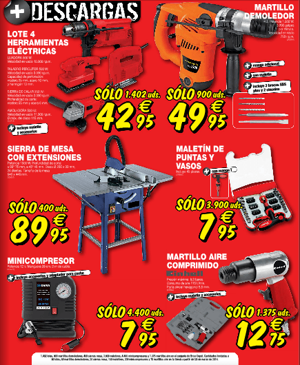 Brico Depot 2014 ofertas herramientas sierras taladros